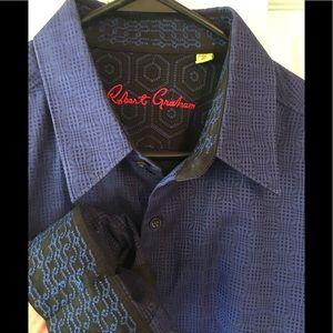 NEW Robert Graham dress shirt men's L
